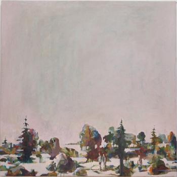 Ingen varg i skogen, 47x47 cm 2011, OPD