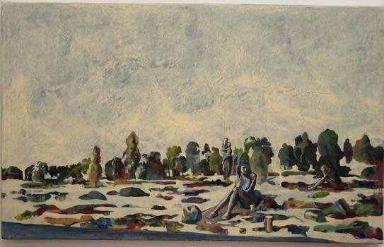 Läsaren, 98x60 cm 2011, OPD