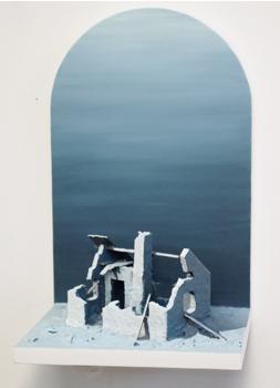 LimJohans stuga,  b21x h33x d19 cm, MDF, polystyren, kartong och akrylfärg, 2010
