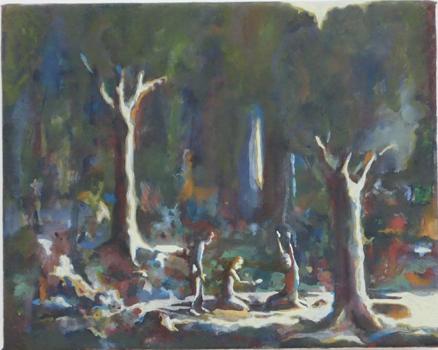 Skatten, 30x24 cm 2011, OPD