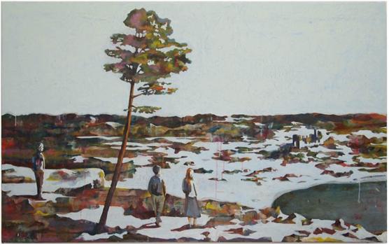 Vandrarna, 98x60 cm 2011, OPD