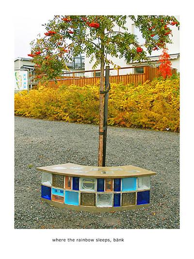 """""""Where the rainbow sleeps"""" 2006 Utsmyckning i Skärholmen, Stockholm för HSB"""